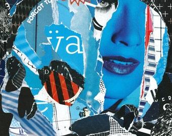 Headcase #2 - Original collage artwork
