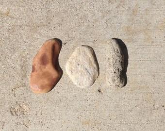 found stones, focal pendants, unpolished, beach stones