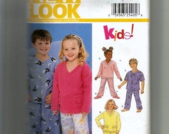 New Look Child's Pajamas Pattern 6131