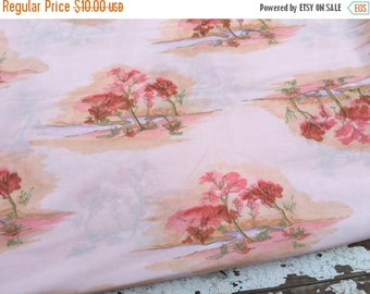 30% OFF SUPER SALE- Vintage Polyester Fabric -By the Stream