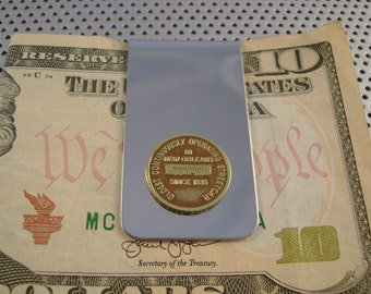 Vintage Authentic New Orleans Streetcar Transit Token Money Clip Man Gift, Wedding, Groomsman Gift, Fathers Day Gift