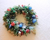 Bracelet Half-Price Sale Floral Fringe Garden of India Elephant Green Blue Rose Ivory