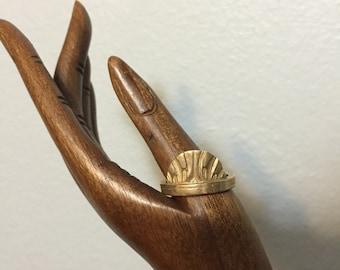 Infinite Cocoon ring in Untold/ Bronze/ US size 8.5