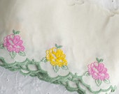 Vintage floral scalloped embroidered trim (new old stock)