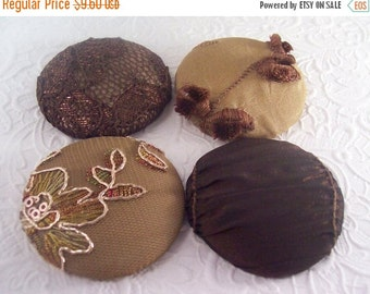 CLEARANCE Brown buttons, lace buttons, sparkling buttons, size 75 buttons