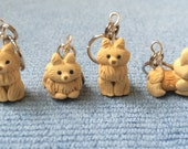 Pomeranian Dog Knitting Stitch Markers (set of 4)