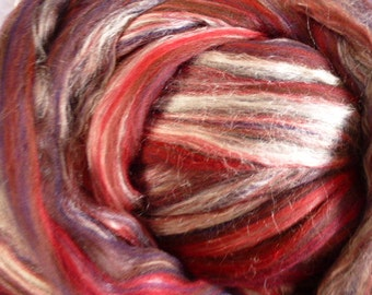 Ashland Bay Merino /Tussah Silk  70/30 Blend Red 4 Ounces