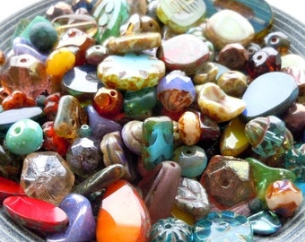 Fall Clearance Grab Bag 30 Gram Premium Picasso Bead Assortment from Mountain Shadow Designs