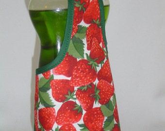 Strawberry Garden Green Detergent Dish Soap Bottle Apron Cover Staffer Party Favor Lg