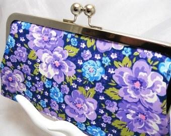 Coupon Organizer Cash Envelope System Purple Lavendar Floral