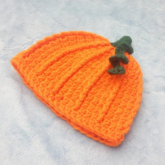 Crocheted Pumpkin Hat - 3-6M