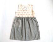 SALE 445 One of a Kind Hemp Jigsaw Babydoll Dress Size Medium/Large Ready to Ship