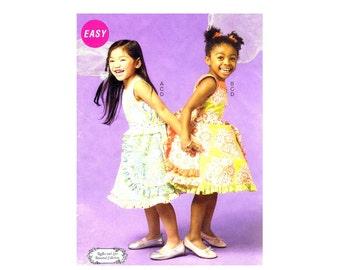 Girls Dress Petticoat Belt McCalls P304 Sewing Pattern Size 6 - 7 - 8 Uncut
