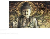 Intentional Bliss - Two Buddha Tree-Free Greeting Cards by Christopher Beikmann