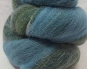 CLEARANCE Yarn Hollow Foxy Batts Mixed Up Bits of Everything, Stripey Colors that are a Blast to Spin - Foxy Batt No 4-14