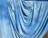 Blue Sky Hand Dyed Organic Bamboo Velour Blanket - Stadium Blanket - Throw