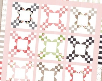 Bloominton quilt pattern from Lella Boutique - jelly roll friendly