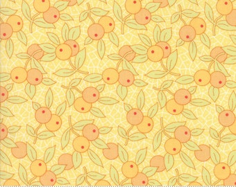 Chestnut Street - Berries in Daisy Yellow: sku 20273-18 cotton quilting fabric by Fig Tree and Co. for Moda Fabrics - 1 yard
