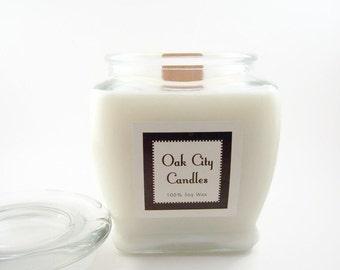 Fresh Vanilla Wood Wick Soy Candle, Free Shipping, 17oz Large Candle