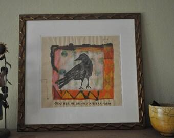 """Original painting """"Crow"""""""