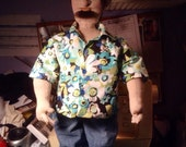 Custom made cloth doll reserved for Easystreetzines