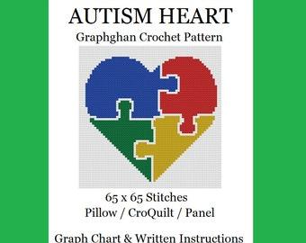 Autism Heart - Graphghan Crochet Pattern