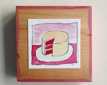 Red Velvet Cake Tiny Print