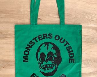 Monsters Outside Fan Club Canvas Tote Bag