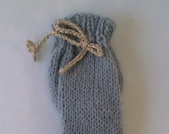 Dusty Blue Angora Willie Warmer - angora willy warmer penis cozy for men, mature