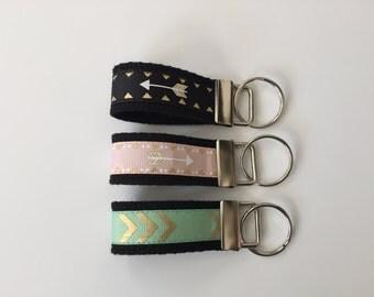 Mini Key FOB, Key Chain, Key Holder, Keyfob Wristlet, Keychain, Accessories, House Keys