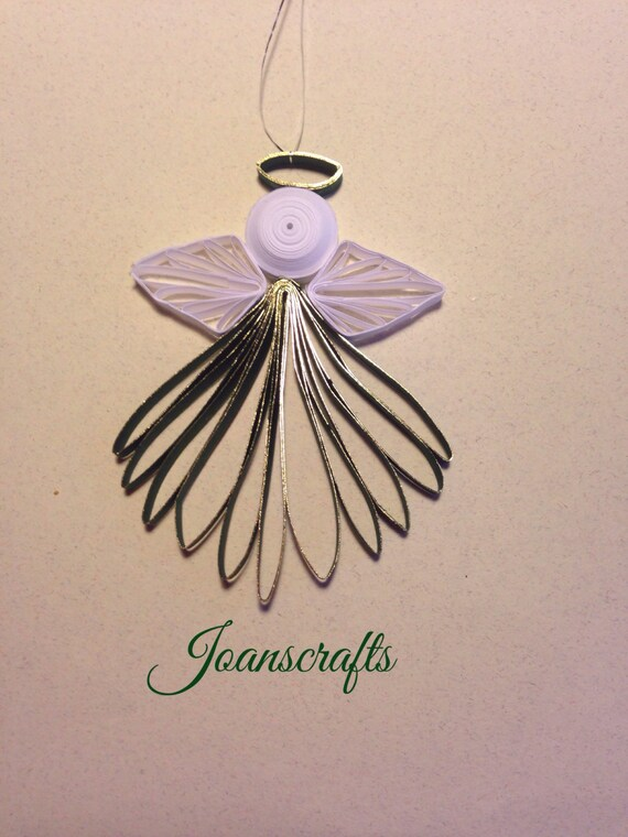 Quilled Holiday Angel Ornament