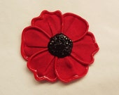 Custom order for Suzanne - Large Flanders poppy brooch (with extra embellishment)