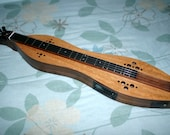Mountain Dulcimer, 4-string Custom Cherry/Walnut Hour-glass, with optional Electric and optional Ebony Finger-board