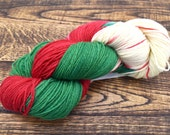 Christmas is Coming Hand Dyed Sturdy Sock Yarn - In Stock