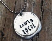 Fairly Local Hand Stamped Wax Seal Necklace