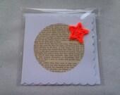 Little Women orange Christmas star Literary Greeting Card