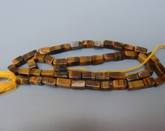 Tigers Eye Beads, Tigers Eye Rectangles, Gemstone Rectangle Beads, Tiger Eye Beads, Tigers Eye Quartz, Brown Gemstone Beads, Rectangles