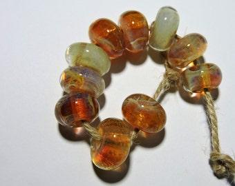 Lampwork Borosilicate Beads HONEY Two Sisters Designs 100316B