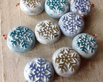 Snowflake Coin Bead Trio