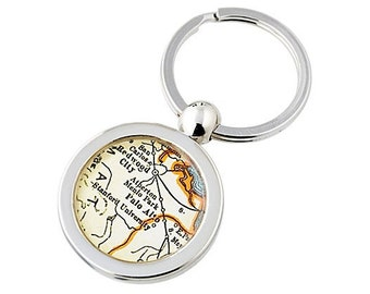 Palo Alto Map Key Ring Fob Keychain Stanford University