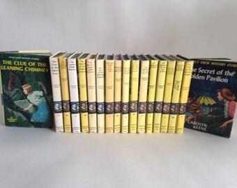 18 1950s Vintage Nancy Drew set of books