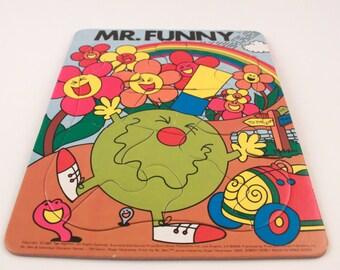 Mr. Men Mr. Funny Tray Puzzle 1983 - Comedy! (825-18)
