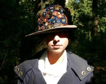 Vintage 1920s Brimmed Hat Large