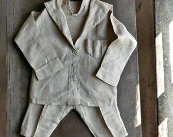 19th Century Boy's Linen Sailor Suit