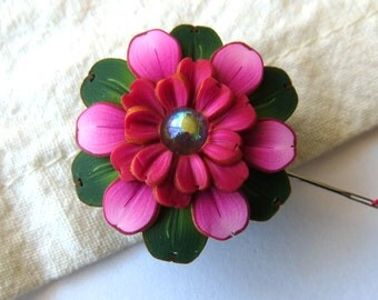 Pink Flower Needle Minder, Needle Nanny