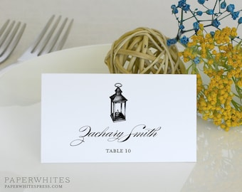 Lantern Place Card, Lantern Wedding Place Cards - Deposit to Get Started
