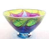 Royal Rhapsody  - Hand Blown Glass Bowl