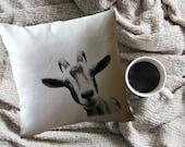 funny goat head  throw pillow cover, custom throw pillow, decorative throw pillow