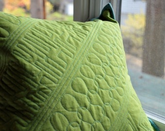 Modern Green Pillow Cover