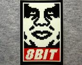 """8BIT - 2x3"""" vinyl sticker"""